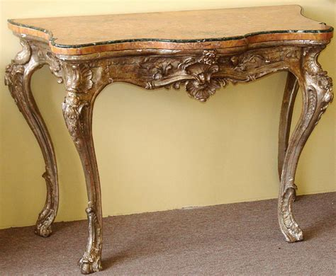 antique console tables for sale northern rococo period silver leaf console table