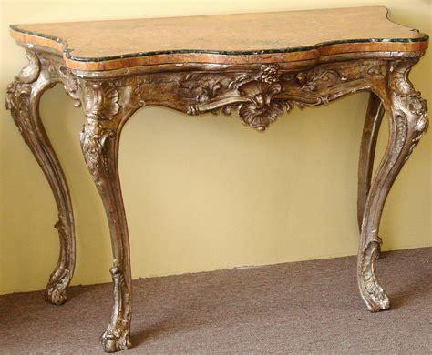 Northern Rococo Period Silver Leaf Console Table