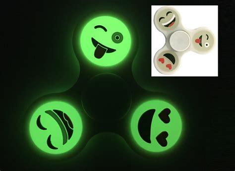 Glow In The Fidget Spinner Spinner Anti Stress Spiner Kualit 3d emoji fidget finger spinner focus spin edc anti
