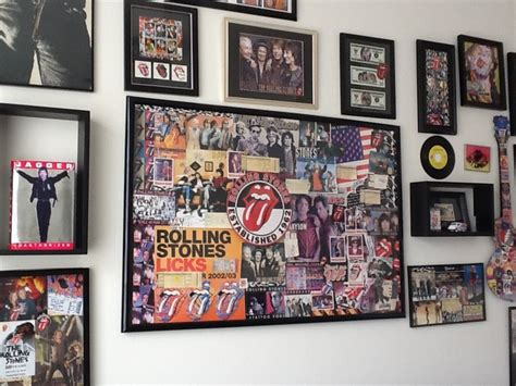 rock and roll bedroom ideas a section of my rock n roll room cool spaces