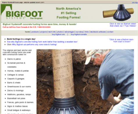 bigfootsystemscom north americas  selling footing