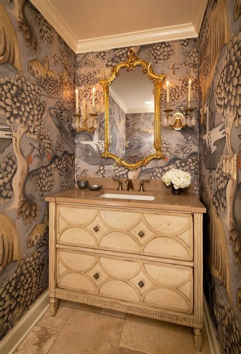 Elegant powder rooms powder room traditional with dark