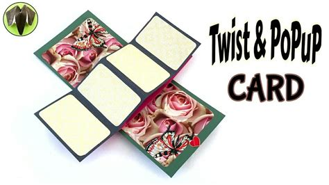 twisting pop up card template free twist popup card quot diy tutorial by paper folds