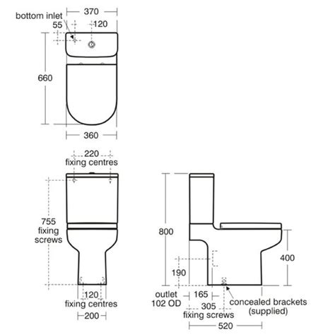 Toilet Plumbing Size by Standard Toilet Dimensions Crowdbuild For