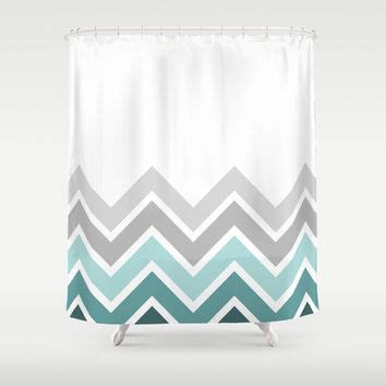 teal chevron shower curtain white teal chevron fade shower curtain from society6