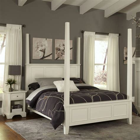 white poster bed home styles naples white king poster bed 5530 620 the