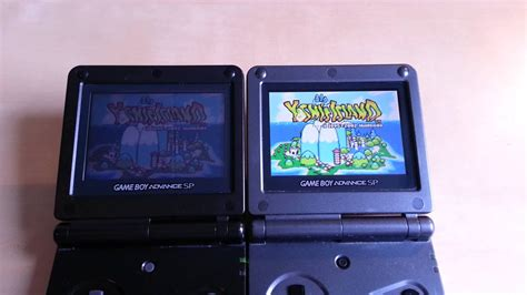 game boy advance model ags 101 gba sp ags 001 vs ags 101 youtube