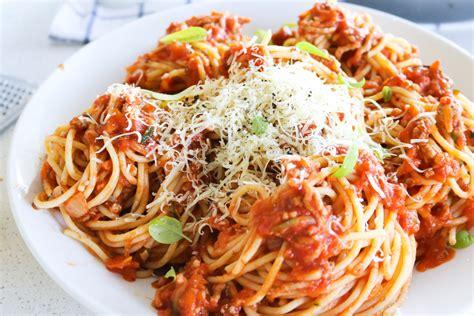 Spghetti Bolognese spaghetti bolognese my lovely lunch box