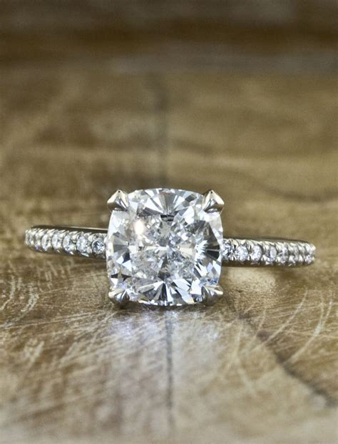 cusion cut cushion cut diamond cushion cut diamond pave band