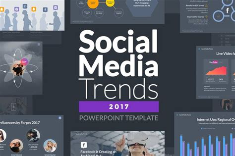 Social Media Trends 2017 Powerpoint Template By Slidehack On Envato Elements Church Social Media Template
