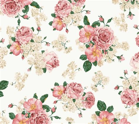 Flower Floral Vintage pink vintage floral wallpaper wallmaya