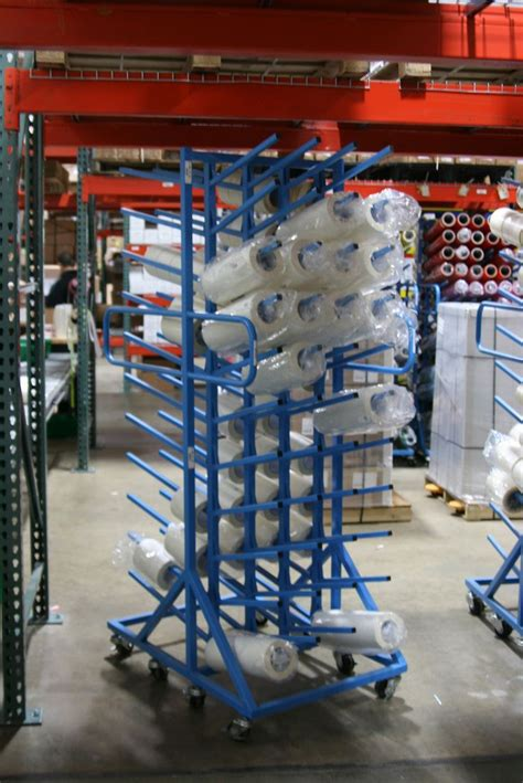 Rolling Storage Rack by Uscutter Rolling Vinyl Storage Rack 88 Roll Capacity