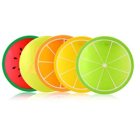 Zp Set Dias Kid Matt Babyterry 6pcs fruit shape silicone gel coasters coffee tea cup mug non slip mat pad ebay