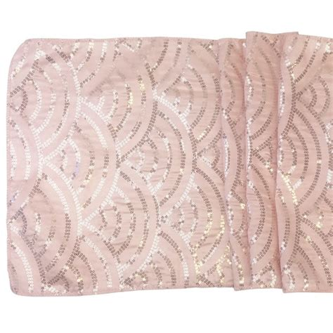 blush sequin table runner blush mermaid scale sequin table runner