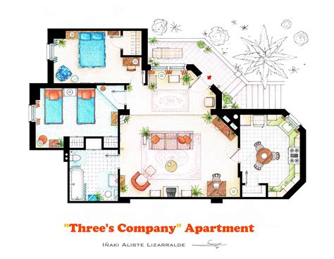 tv show apartment floor plans accurate floor plans of 15 famous tv show apartments
