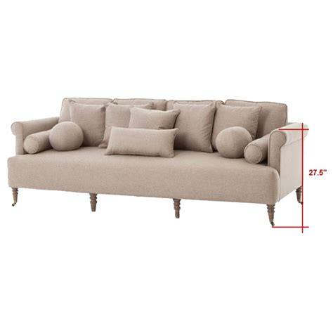 rolled arm sofa merrimac modern classic english rolled arm light tan sofa