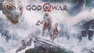 wallpaper kratos, god of war, ps4, 2017 games, 4k, games