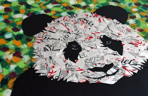 literal pop art artist crafts beautiful collages