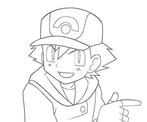 Ash Ketchum Coloring Page ash greninja coloring pages in color coloring pages