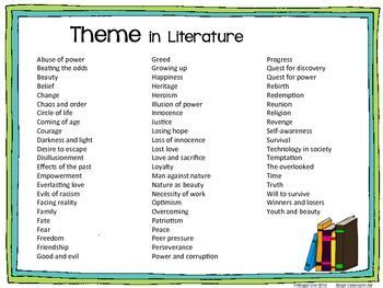 colors in literature 1000 ideas about teaching themes on theme