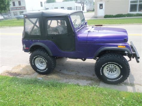 purple jeep cj purple 1975 jeep cj5 low miles nice shape newer tires