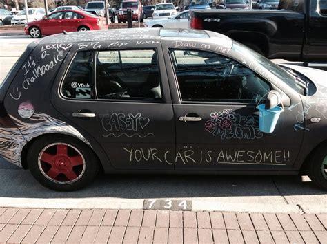 chalkboard paint your car chalkboard car pics