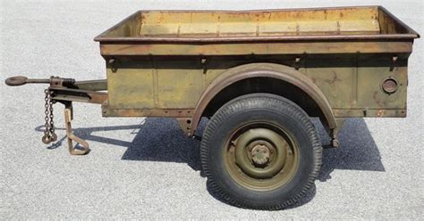 jeep trailer for sale original unrestored wwii jeep trailer 1943 willys mbt