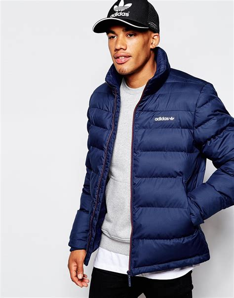 padded jacket lyst adidas originals padded jacket ab7875 in blue for