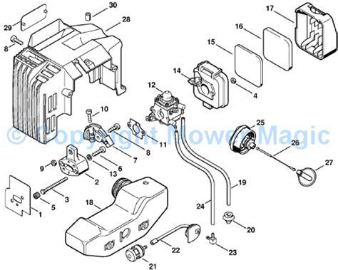 stihl fs 80 parts diagram stihl hs74 spares
