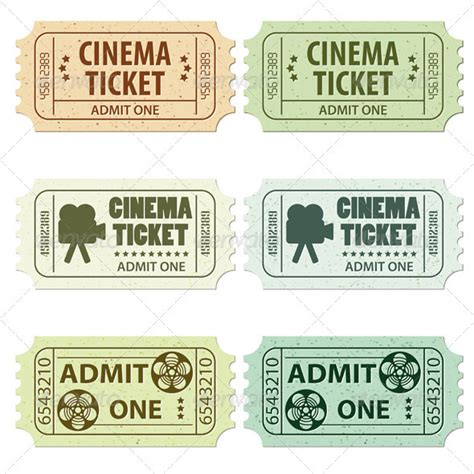 tattoo ticket prices set cinema ticket by talex graphicriver