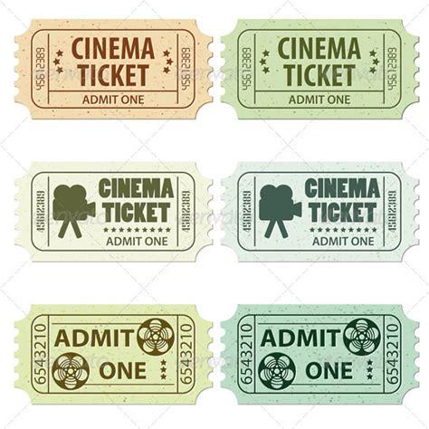 tattoo ticket prices set cinema ticket by talex graphicriver