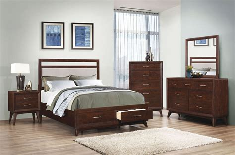 carrington bedroom furniture carrington coffee platform storage bedroom set 205041q