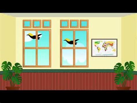 background animasi ruang kelas background video