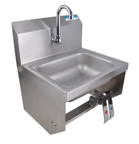 Commercial Kitchen Sinks Commercial Kitchen Stainless Steel Knee Operated Sink New