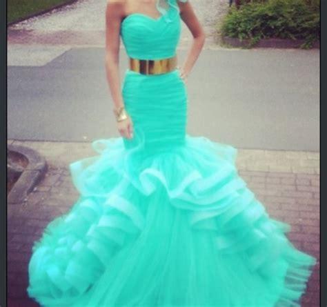 Dress Aqua Biru dress baby blue prom dress gold belt maxi dress belt