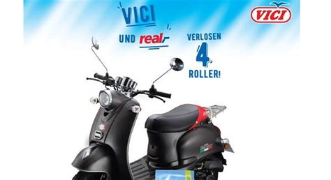 Motorrad Roller Real by Real Gewinnspiele Vici Verlost 4 Motorroller