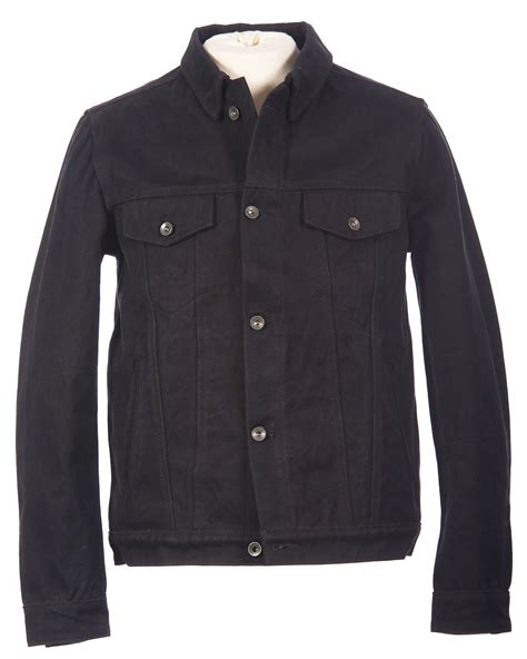Denim Jacket mens black denim jacket crank stroker