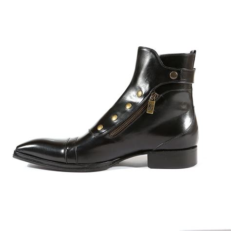 italian leather boots mens jo ghost italian mens shoes montalcino nero x plato black
