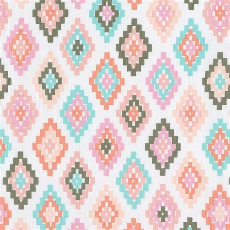 Duvet And Comforter Pastel Tribal Fabric By The Yard Pink Fabric Carousel