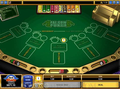 microgaming bonus pai gow poker payout table schedule game rules