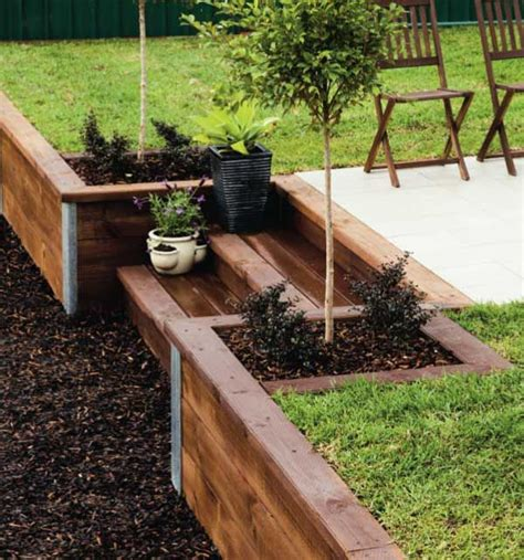 Retaining Wall Ideas For Backyard 25 Best Ideas About Wood Retaining Wall On Pinterest Sleeper Wall Sleeper Steps And Sleepers
