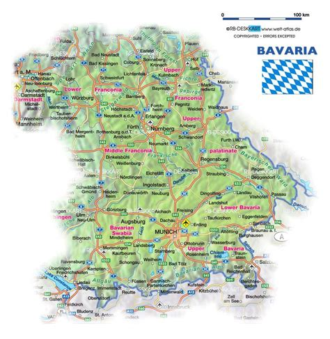bavaria germany map 10 best images about german maps and flags on