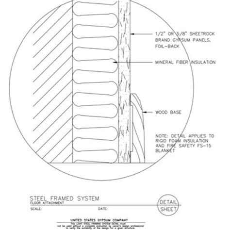 Light Metal Framing Wall Section by Usg Design Studio Steel Joist Details