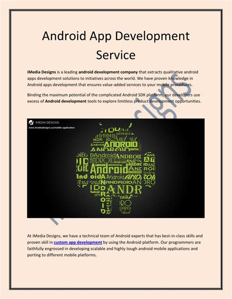 android application development ppt android app development service imedia designs powerpoint presentation id 7467315