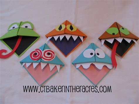 Origami Monsters - ctbaker in the acres 14 lovely days day 2