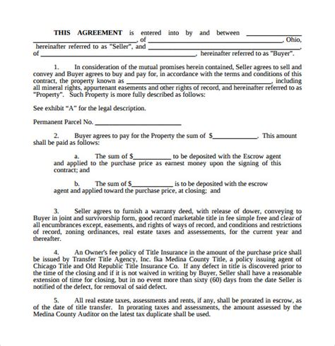 17 Sle Land Purchase Agreement Templates To Download Sle Templates Land Purchase Agreement Template