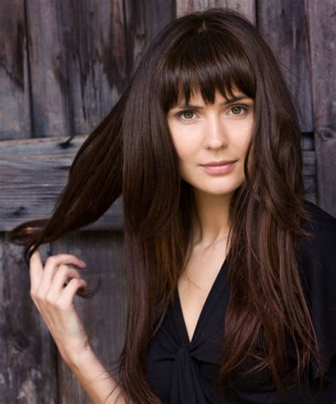 difference between blunt and rounded bangs 50 layered hairstyles with bangs