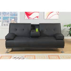 black faux leather adjustable sofa bed futon walmart