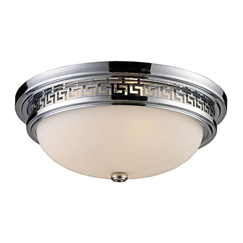 elk lighting ceiling flush mount light 3 light save 51