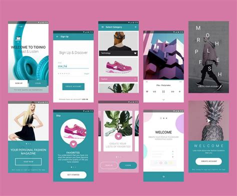 Magazine Template App Fashion Magazine Mobile App Ui Kit Free Psd Download Download Psd
